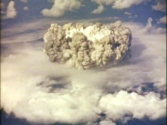 Actual footage of the first Hydrogen bomb test.