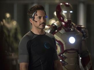 Tony Stark and Iron Man MK 42.