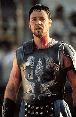 Russell Crowe in Gladiator (2000). Also a better film.