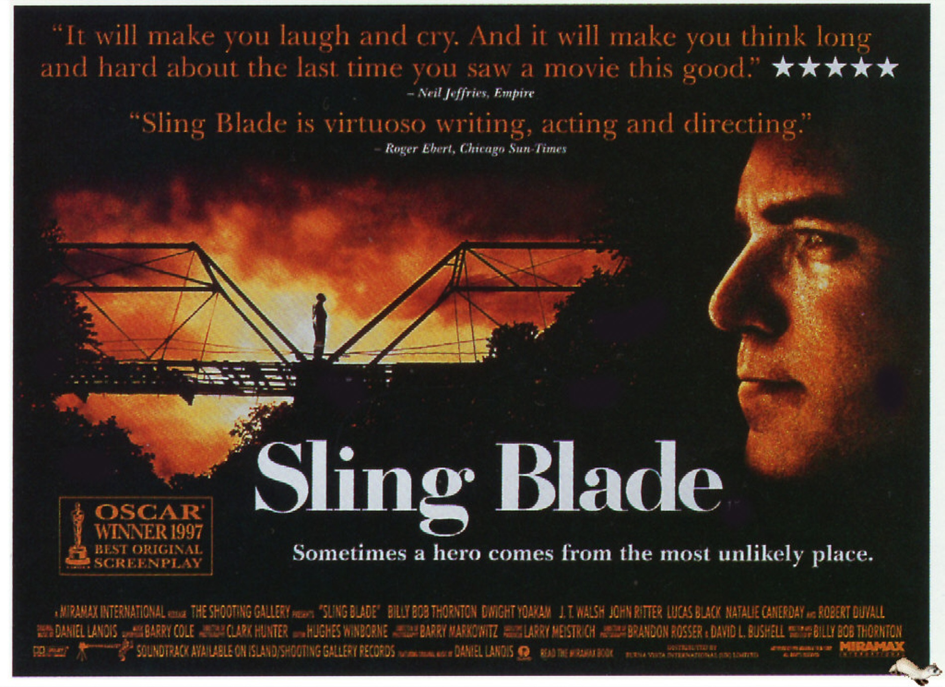 characterization of the film sling blade Sling blade is a near perfect piece of cinema, and is billy bob thornton's finest hour as an actor a stunning film that is quite unforgettable, sling blade has heart and charm due to the great.