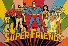 The original queue card for the Super Friends (1973-1974)