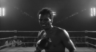 LaMotta's career rival, boxing legend Sugar Ray Robinson.